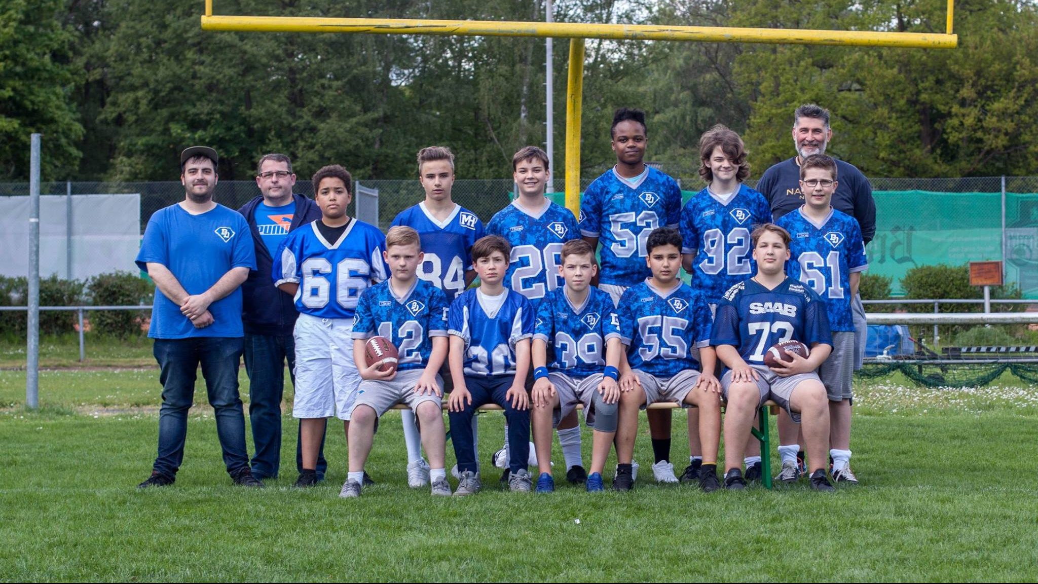 Teamfoto Flag Football Jugend