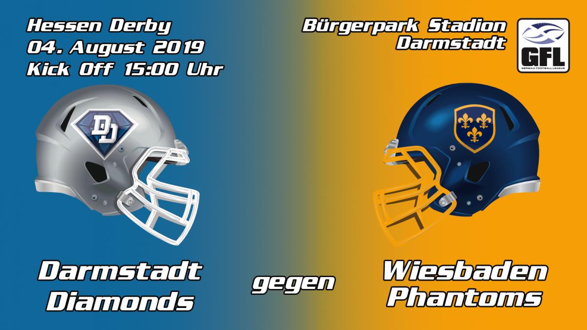 Hessen Derby Wiesbaden Phantoms Darmstadt Diamonds Heimspiel Traditionsderby