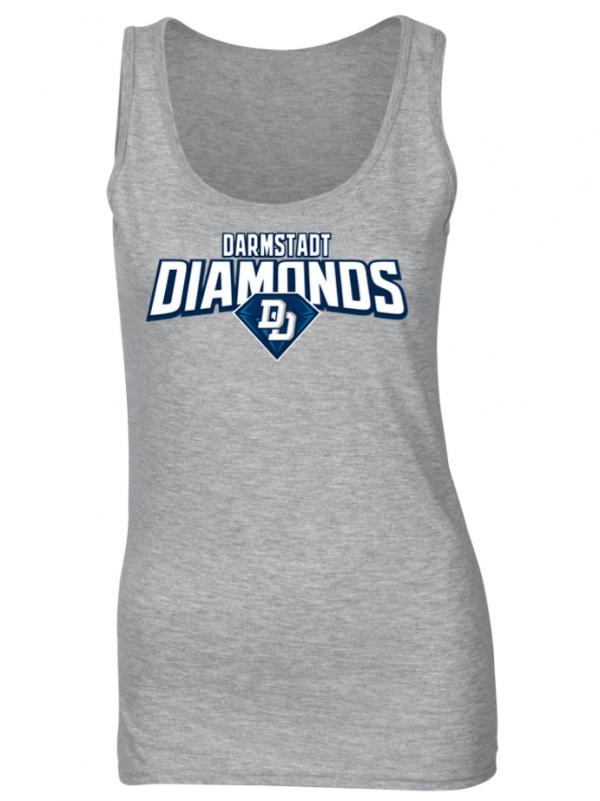 Diamonds ladies tank top grey fanwear