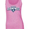 diamonds ladies tank top pink fanwear rosa