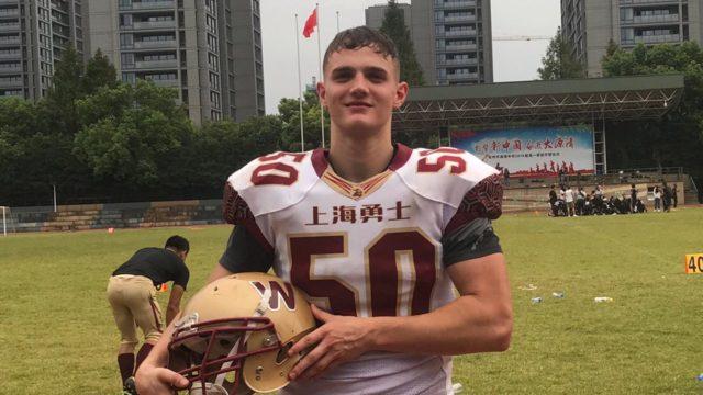 Franz Dueck während Sprachstudium bei den Shanghai Warriors