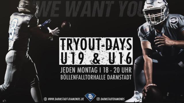 Tryout-Days der U19 & U16 Jugend